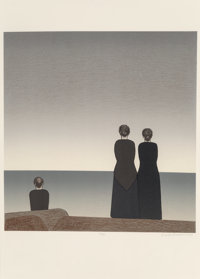 Will Barnet (1911-2012) Peter Grimes, 1983 Lithograph in colors on paper 21 x 21 inches (53.3 x 5