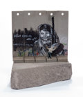 General Americana, After Banksy . Souvenir Wall Section, 2017. Painted cast resin with concrete. 5-1/4 x 5 x 3-1/2 inches (13.3 x 12.7 x 8....