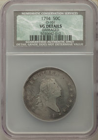 1794 50C O-101, T-7, High R.3 -- Damaged -- NCS Details. VG....(PCGS# 39200)
