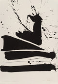Fine Art - Work on Paper:Print, Robert Motherwell (1915-1991). Automatism B, 1966.Lithograph on Rives BFK paper. 28-1/2 x 21-1/2 inches (72.4 x 54.6cm...
