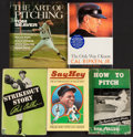 Baseball Collectibles:Publications, Baseball Hall of Fame Signed Book Lot of 6.... (Total: 6 items)