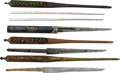 Edged Weapons:Swords, Lot of Japanese Kogatana and Kogai....