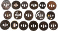 Edged Weapons:Swords, Large Lot of 17 Japanese Tsuba....
