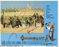 "Hollywood Memorabilia:Autographs and Signed Items, Richard Harris Signed Lobby Cards. This lot features two lobbycards for the romantic musical ""Camelot"" signed by actor Rich... (2)"
