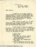 Memorabilia:Miscellaneous, Helen Hayes Signed Letter. Two-page typed letter, dated April 26,1935, and addressed to Edward J. Mannix at MGM, who had no...