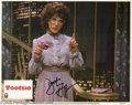 "Memorabilia:Miscellaneous, Dustin Hoffman Signed Lobby Card. This lot includes a promotionalphotograph for ""Tootsie"" signed by Hoffman. With COA fro..."