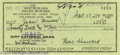 Hollywood Memorabilia:Autographs and Signed Items, Moe Howard Signed Check. As a founding member and leader of the Three Stooges, Moe Howard made a career out of slapstick com...