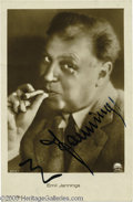 Hollywood Memorabilia:Autographs and Signed Items, Emil Jannings Signed Photograph. Featured is a signed photograph ofSwiss actor Emil Jannings, the first winner of an Academ...