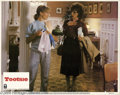 "Memorabilia:Miscellaneous, Jessica Lange Lobby Card. A promo still for the Dustin Hoffmancomedy ""Tootsie"" signed by co-star Jessica Lange. With COA ..."