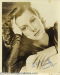 Hollywood Memorabilia:Autographs and Signed Items, Frances Dee Signed Vintage Photograph. A vintage photograph, inextremely good condition for its age, of actress Frances Dee...