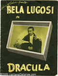 "Memorabilia:Miscellaneous, Bela Lugosi Signed ""Dracula"" Program. Few people realize that Bela Lugosi made the role of Dracula (and vice versa) famous o..."