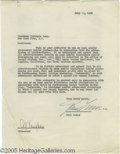 Memorabilia:Miscellaneous, Paul Lukas Signed Document. A well known movie star in CentralEurope in the '20s, Paul Lukas was brought to the U. S. in 19...