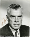 Hollywood Memorabilia:Autographs and Signed Items, Lee Marvin Signed Photograph. An autographed headshot of one of Hollywood's prototypical tough-guy leading men. With COA f...