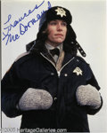 """Hollywood Memorabilia:Autographs and Signed Items, Frances McDormand Signed Photograph. This lot features a publicityphoto for the 1996 Coen Brothers crime drama """"Fargo"""" sign..."""