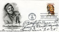 Hollywood Memorabilia:Autographs and Signed Items, Butterfly McQueen Signed FDC. Here is a first day cover of a stamp honoring swashbuckling actor Douglas Fairbanks, postmarke...