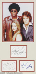 """Memorabilia:Miscellaneous, """"Mod Squad"""" Autograph Lot. Signatures from the series' stars, Peggy Lipton, Michael Cole, and Clarence Williams III, matted ..."""