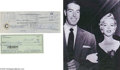 Memorabilia:Miscellaneous, Marilyn Monroe and Joe DiMaggio Signed Checks. Two personal checks, one dated December 18, 1959, and signed by Marilyn Monro...