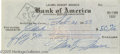 Movie/TV Memorabilia:Autographs and Signed Items, Marilyn Monroe Signed Check. Personal check for $50 cashed by Marilyn Monroe on February 21, 1953, signed by the actress in ...