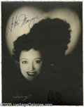 "Hollywood Memorabilia:Autographs and Signed Items, Helen Morgan Signed Photograph. A vintage, matte-finish 7.5"" x 9.5""photo of early sound-era singer and actress Helen Morgan..."