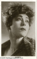 Hollywood Memorabilia:Autographs and Signed Items, Alla Nazimova Postcard and Autograph. A legend of the Russian andAmerican stages in the early part of the 20th century, All...