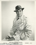 "Hollywood Memorabilia:Autographs and Signed Items, Tyrone Power Signed Photograph. An 8"" x 10"" publicity photo for the 1957 adventure ""Abandon Ship!"" (released under the title..."