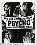 "Hollywood Memorabilia:Autographs and Signed Items, ""Psycho"" Signed Publicity Photograph. A treat for Hitchcock and horror movie fans: an 8"" x 10"" black-and-white photo version..."