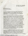 "Hollywood Memorabilia:Autographs and Signed Items, Gene Roddenberry Signed Contract. Here is a two-page agencyagreement dated July 14, 1961, and signed by ""Star Trek"" creator..."