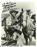 Memorabilia:Miscellaneous, Roy Rogers and Dale Evans Signed Photograph Plus Other Western Stars. This lot features a photo of the actor and his beloved... (10 Items)