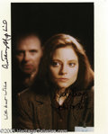 "Memorabilia:Miscellaneous, ""Silence of the Lambs"" Autographed Photograph. Featured in this lot is a photograph from Jonathan Demme's successful, classi..."