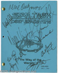 "Memorabilia:Miscellaneous, ""Star Trek: Deep Space Nine"" Autographed Script. Featured in this lot is a final draft script for the television series ""Sta..."