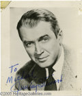 "Hollywood Memorabilia:Autographs and Signed Items, James Stewart Signed Photograph. A nice little item for film buffs: an autographed 2"" x 2"" photo of James Stewart, one of th..."