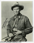 Hollywood Memorabilia:Autographs and Signed Items, James Stewart Signed Photograph and Other Signed Photos. Featured in this lot is photo of Stewart from one of the many Weste... (4 Items)
