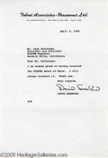 Hollywood Memorabilia:Autographs and Signed Items, David Susskind Typed Signed Letter. Considered a key figure in the development of television talk shows, distinguished talk-...