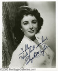 Hollywood Memorabilia:Autographs and Signed Items, Elizabeth Taylor Signed Photograph. One of the most beautiful womento ever grace the screen, and a much better actress than...