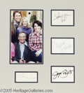 "Memorabilia:Miscellaneous, ""Three's Company"" Signature Lot. Signature samples from sitcomco-stars Suzanne Somers, Joyce Dewitt, Norman Fell, and John ..."