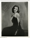 """Hollywood Memorabilia:Autographs and Signed Items, Gene Tierney Signed Photograph. An autographed 8"""" x 10"""" portrait ofGolden Age leading lady Gene Tierney, who starred in the..."""