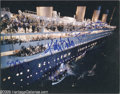 "Hollywood Memorabilia:Autographs and Signed Items, ""Titanic"" Signed Photograph. An 8"" x 10"" color glossy from themovie, signed in blue felt tip by Frances Fisher, Kathy Bates..."