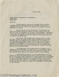 Hollywood Memorabilia:Autographs and Signed Items, Sam Goldwyn and Jack Warner Signed Contract. A two-page agreement,dated July 28, 1926, loaning the services of scenario wri...