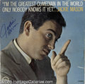 "Hollywood Memorabilia:Autographs and Signed Items, Jackie Mason Signed ""I'm the Greatest Comedian In the World Only Nobody Knows It Yet"" LP Verve 15033 (1962). Featured in thi..."