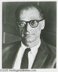 Hollywood Memorabilia:Autographs and Signed Items, Arthur Miller Signed Photograph plus Joe Dimaggio Signed Photo. A signed black-and-white headshot of Arthur Miller, writer o... (2 Items)