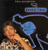 "Paul McCartney Autographed Album. Featured in this lot is a copy of the soundtrack album for the movie ""Give My Reg..."