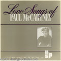 "Music Memorabilia:Recordings, Paul McCartney ""Love Songs of Paul McCartney"" LP (1987). This is a 3-record set of a radio show with a Valentine's Day theme..."