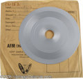 """Music Memorabilia:Recordings, Beatles """"There's a Place"""" Stamper Disc. The 7 1/2"""" stamper for theB-side to the 1963 single """"Twist & Shout"""" (VJ #152), in V..."""