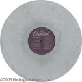 "Music Memorabilia:Recordings, Beatles ""White Album"" Prototype Disc. One of only four knownprototype copies of the ""White Album"" pressed in marbled gray v..."