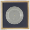 """Music Memorabilia:Awards, Beatles Disc Magazine Silver Award for Parlophone 8880 EP """"BeatlesHits No. 1."""" Sales Award. This is the Beatles' very first..."""