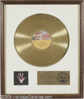 """Music Memorabilia:Autographs and Signed Items, George Harrison """"Living in the Material World"""" Gold Record Award.RIAA award presented to Apple Records to commemorate the s..."""