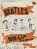 """Music Memorabilia:Posters, Beatles Pin-up Posters Group of Four. Four 1964 """"Screamers"""" pin-upposters -- one for each Beatle -- featuring cartoon caric..."""