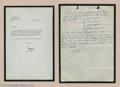 Music Memorabilia:Autographs and Signed Items, George Harrison Handwritten Letter. Featured is a typed, signedletter from Apple Records executive Terry Mellis to George H...