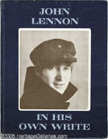 "Music Memorabilia:Autographs and Signed Items, John Lennon Signed Book. A copy of John Lennon's 1964 collection ofpoems and stories, ""In His Own Write,"" signed by the Bea..."