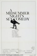 "Hollywood Memorabilia:Autographs and Signed Items, Woody Allen Signed Poster. For his 1982 feature ""A MidsummerNight's Sex Comedy,"" his 12th out of 40, and counting. With C..."